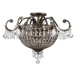 Crystorama English Bronze Crystal Six Light Chandelier from the Vanderbilt Collection