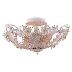 Crystorama Six Light Blush Bowl Semi-Flush Mount