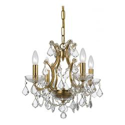 Crystorama Four Light Antique Gold Up Mini Chandelier
