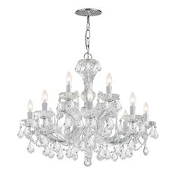 Crystorama Maria Theresa Chrome 12 Light Hand Cut Crystal Chandelier
