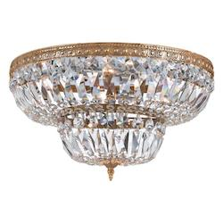 Crystorama Fourteen Light Olde Brass Bowl Semi-Flush Mount