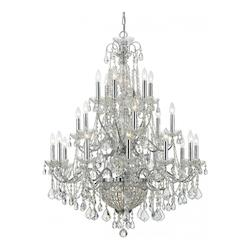 Crystorama Twenty Four Light Polished Chrome Up Chandelier