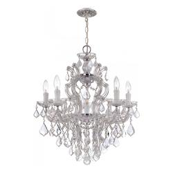 Crystorama Maria Theresa Chrome 6 Light Hand Cut Crystal Chandelier