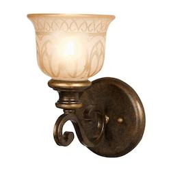 Crystorama Bronze Umber Norwalk 1 Light Wall Sconce
