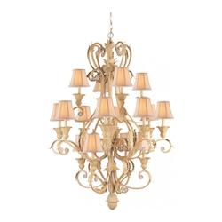 Crystorama Sixteen Light Champagne Up Chandelier