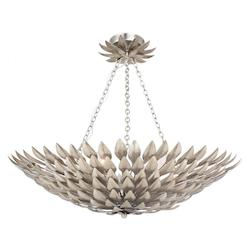 Crystorama Six Light Antique Sliver Bowl Semi-Flush Mount