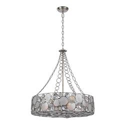 Crystorama Antique Silver Palla 8 Light Pendant