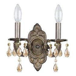 Crystorama Two Light Venetian Bronze Wall Light