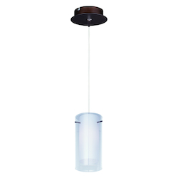 ET2 Frost 1-Light Rapidjack Pendant And Canopy