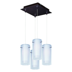 ET2 Frost 4-Light Rapidjack Pendant And Canopy