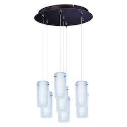 ET2 Frost 7-Light Rapidjack Pendant And Canopy