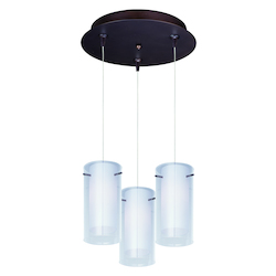 ET2 Frost 3-Light Rapidjack Pendant And Canopy