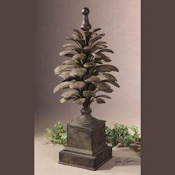 Uttermost Hand Forged Metal Flared Leaf Finial