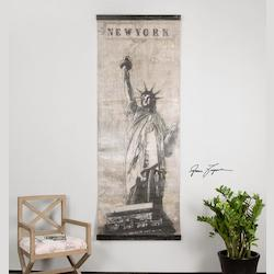 Uttermost Artwork Reproduction Miss Liberty Canvas Wall Art