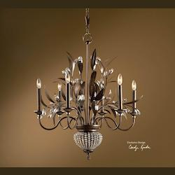 Uttermost 6 Light Single Tier Chandelier From The Cristal De Lisbon Collection