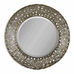 Uttermost 32In. Round Mirror From The Alita Collection