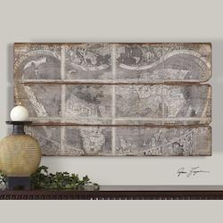 Uttermost Artwork Reproduction Map Of The City Wall Art