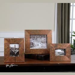 Uttermost Copper Ambrosia Picture Frames - Set Of 3