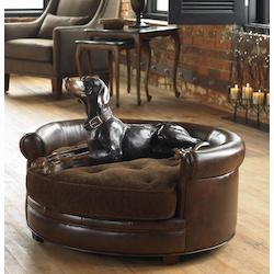 Uttermost Russet Brown Reversible Cushion Pet Bed From The Lucky Collection