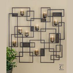 Uttermost Rust Brown Siam Candle Light Wall Sculpture