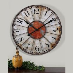 Uttermost Crackled Ivory Face Clock