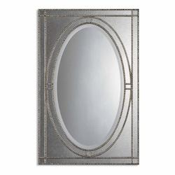 Uttermost B Antique Silver Champagne Earnestine Mirror