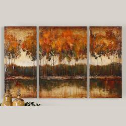 Uttermost Artwork Reproduction Trilakes I Ii Iii Set Of 3 Wall Art