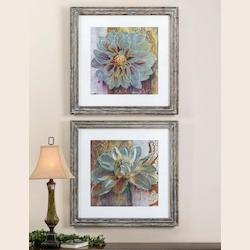 Uttermost Medium Brown And Blues Sublime Truth Set Of 2 Wall Art