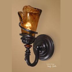 Uttermost Vitalia One Light Up Lighting Wall Sconce Designed By Carolyn Kinder
