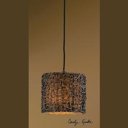 Uttermost Single Light Mini Hanging Shade Pendant From The Naturals Collection