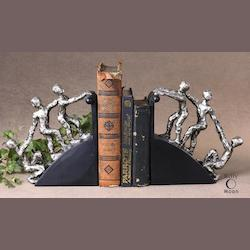 Uttermost Nickel Plated Helping Hand Bookends Set Of 2