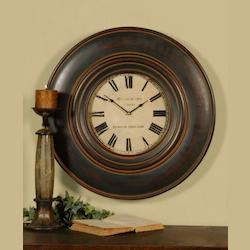 Uttermost Wood Frame Finished Wall Clock