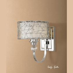 Uttermost Brushed Nickel Brandon 1 Lt Wall Sconce