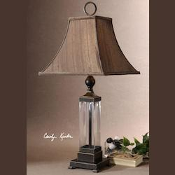 Uttermost Mouth Blown Glass With Oil Rubbed Bronzed Metal Details Bartlet Table Lamp