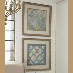 Uttermost Stained Glass Indigo Wall Art