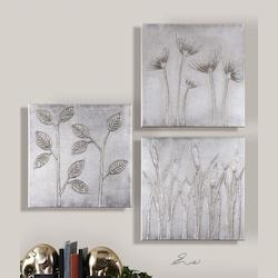 Uttermost Artwork Reproduction Sterling Trio  Set Of 3 Wall Art