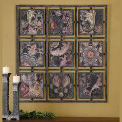 Uttermost Black Iron Paisley 47.25In.W X 47.25In.H Impressionist Painting