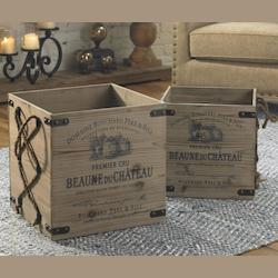 Uttermost Wood Bouchard Decorative Boxes