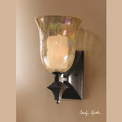 Uttermost Distressed Spice Single Light Wall Sconce From The Elba Collection