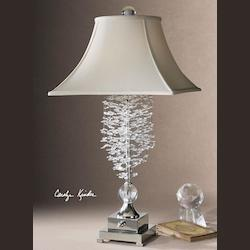 Uttermost Crystal Cascading  Accented Lamp From The Fascination Ii Collection