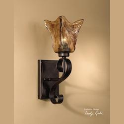 Uttermost Oil Rubbed Bronze Single Light Wall Sconce From The Vetraio Collection