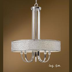 Uttermost Nickel Brandon 5 Lt Single Shade Chandelier