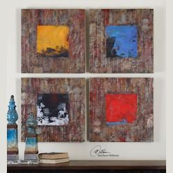 Uttermost Artwork Reproduction Primary Blocks Abstract Wall Art, Set Of Four