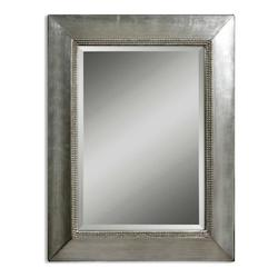 Uttermost B Antiqued Silver Leaf With Black Fresno Beveled Mirror