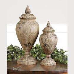Uttermost Natural Wood Brisco Finials Set Of 2