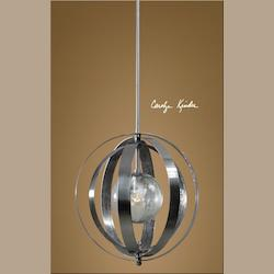 Uttermost Polished Nickel Trofarello Silver 1 Lt Pendant