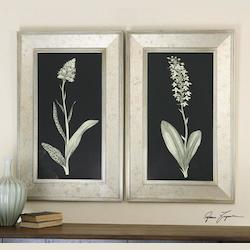 Uttermost Artwork Reproduction Antique Floral Study Framed Wall Art, Set Of Two