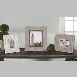 Uttermost Antique White Askan Picture Frame