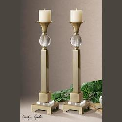 Uttermost Coffee Bronze Euron Set Of 2 Candle Holders