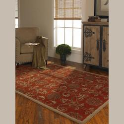 Uttermost Red 5 X 8 Favara Hand Tufted Wool Rug